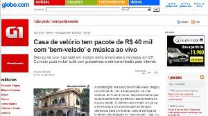 Site Globo.com - Casa de velório tem pacote de 40 mil com bem velado e
